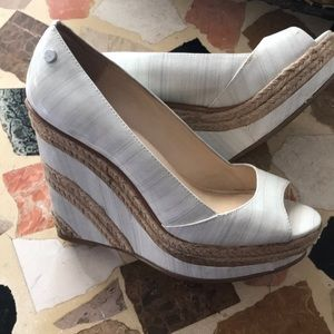 Calvin Klein White wedges